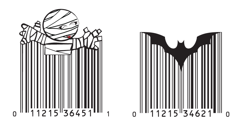 Halloween packaging design gigawatt graphics for Barcode food