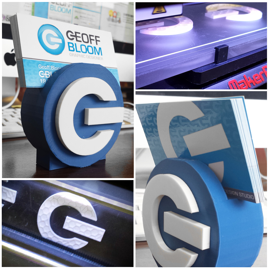 3D printed logo graphic designer gigawatt graphics