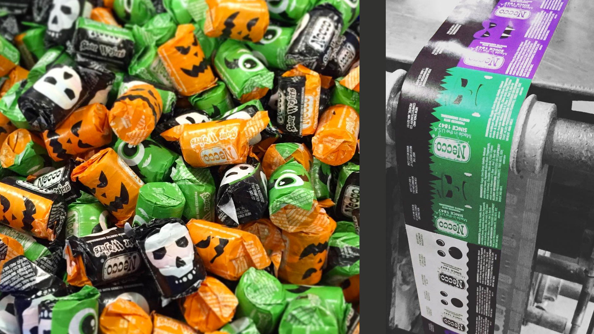 Halloween Necco Wafers Production Samples