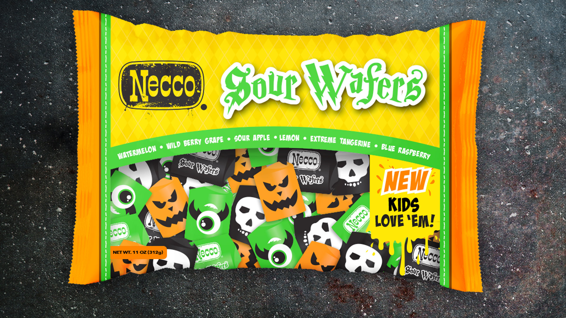 Sour Halloween Necco Wafers
