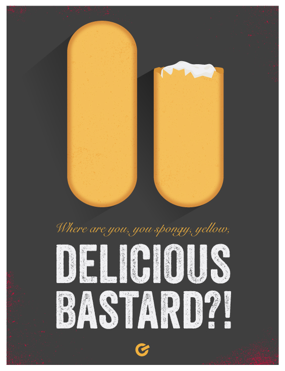 ZombieLand Twinkie Illustration - Gigawatt Graphics