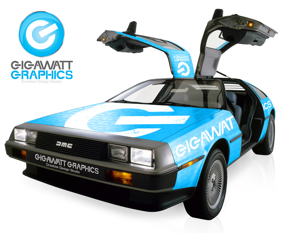 Delorean Concept Vehicle Wrap Gigawatt Graphics