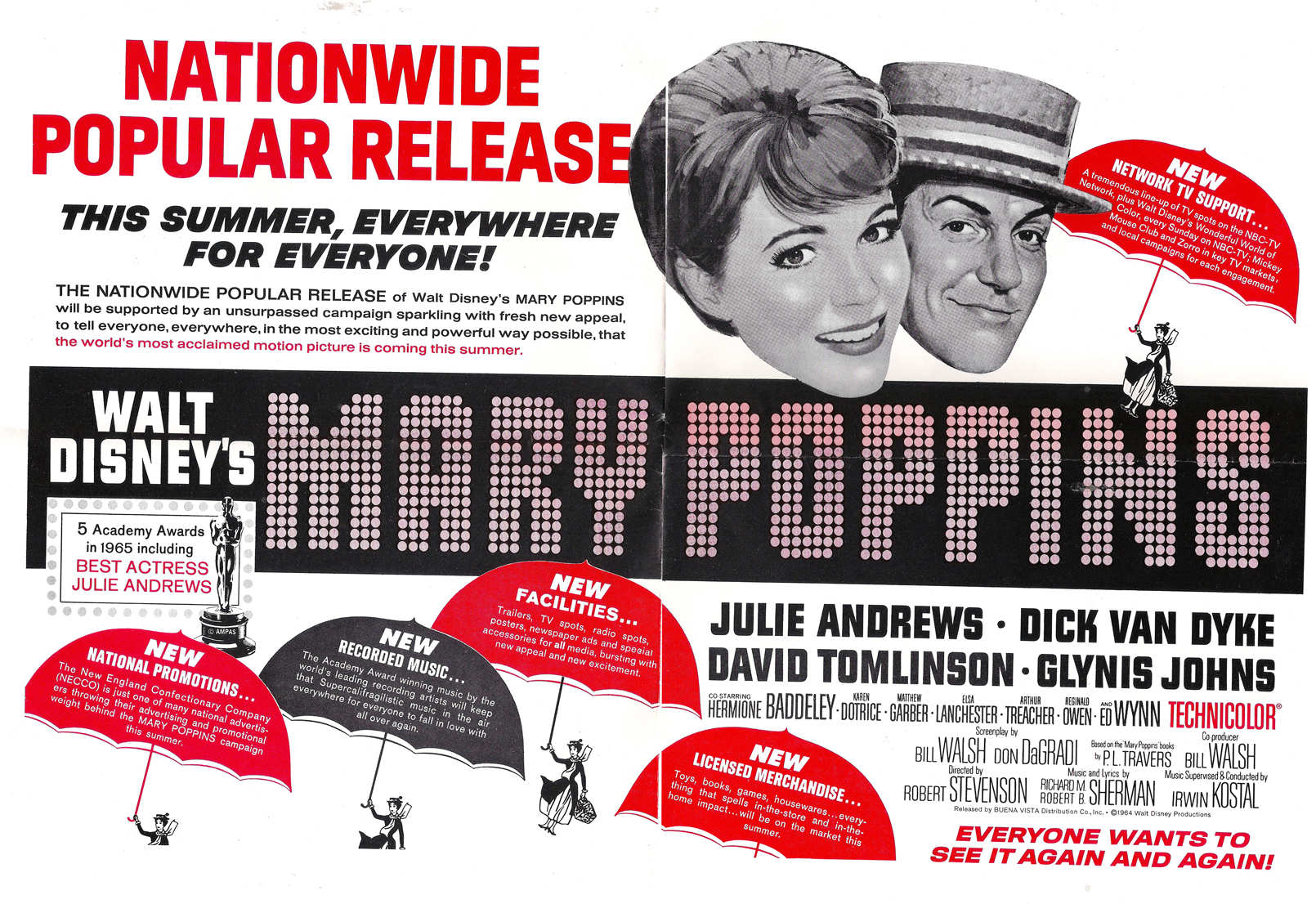 Mary Poppins candy tie in