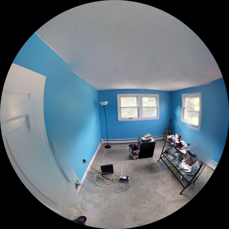 office remodel designer interior blue