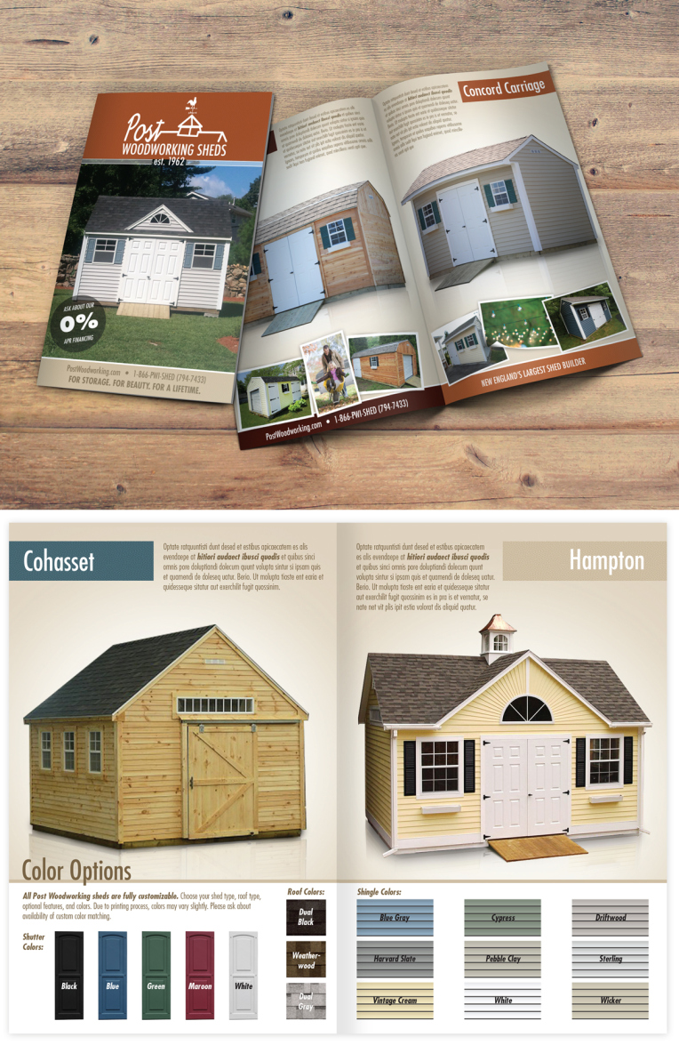 Brochure Design post woodworking