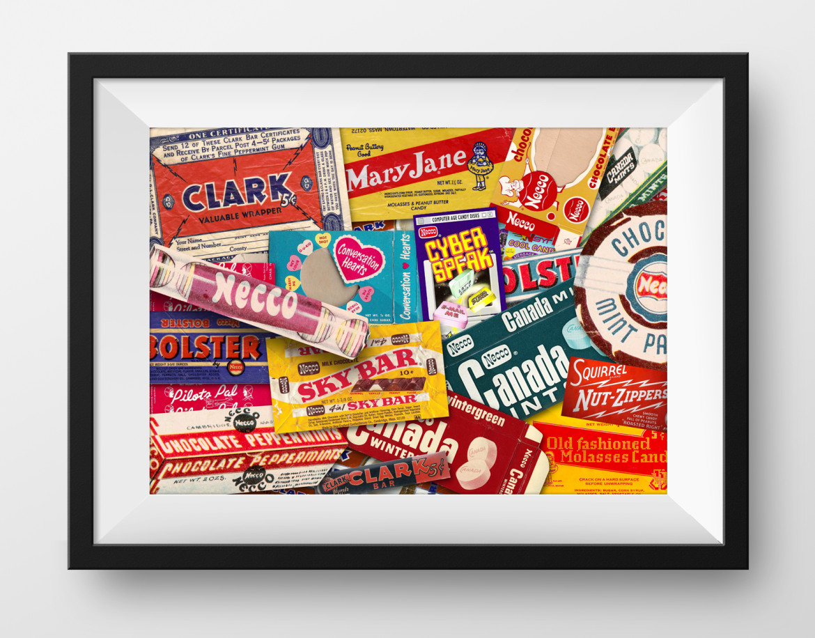Poster Vintage Design candy wrapper